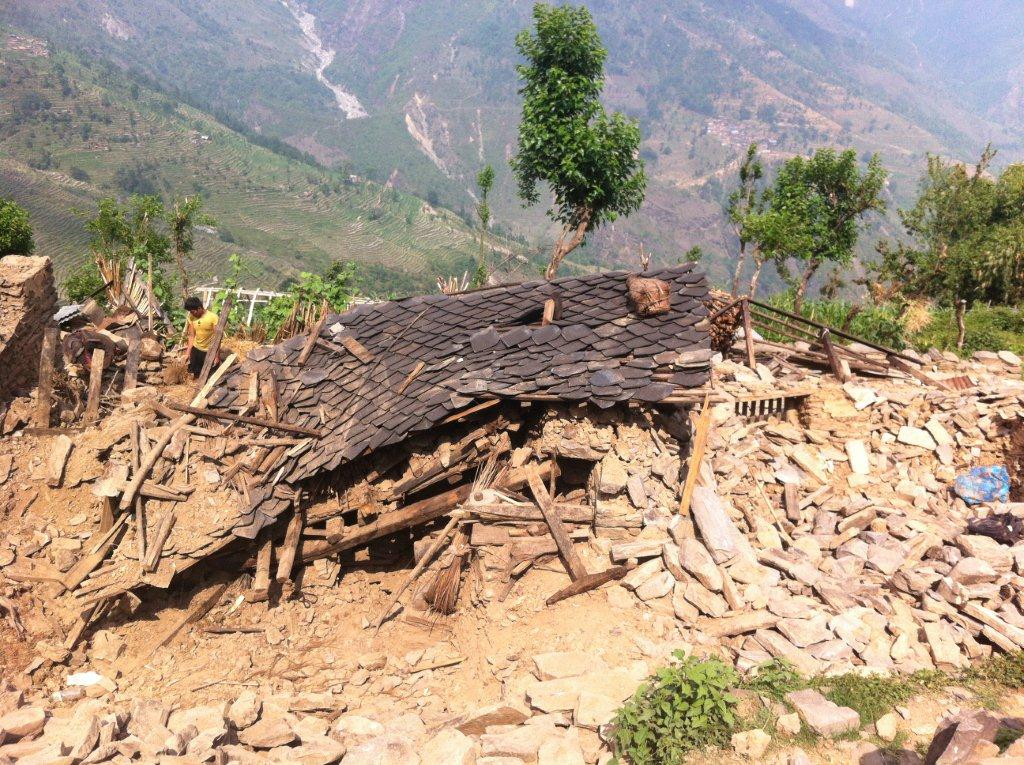 home remains in Jibajibe village