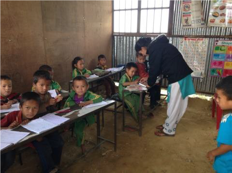 Students in Kimarchung School class, Nov 2015